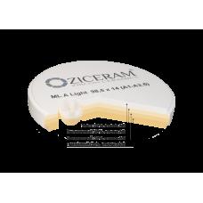 Заготовка для CAD/CAM из диоксида циркония Ziceram ML (многослойная) совместимая с ZirkonZahn, высота и цвет в ассортименте