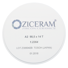 Заготовка для CAD/CAM из диоксида циркония Ziceram T (прозрачная), высота в ассортименте
