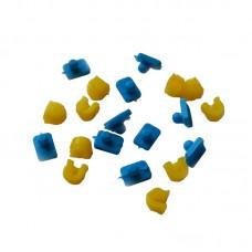 Аттачменты универсальные шаровидные d 2,2мм (набор: 10 патриц + 10 матриц)